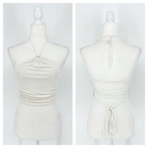 I.AM.GIA Halter Lace Up Top Size XL